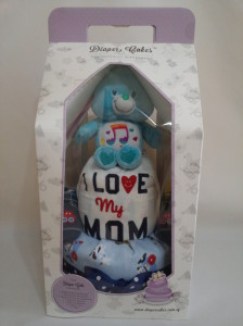 2-Tier-Blue-Care-Bear-Diaper Cake-Baby Gifts Singapore- Boy-3