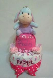 2 Tier -DiaperCakesSingapore-BabyGifts-Eeyore-Girl-Rachel-1