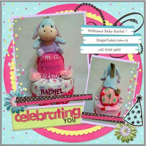 2 Tier -DiaperCakesSingapore-BabyGifts-Eeyore-Girl-Rachel-3