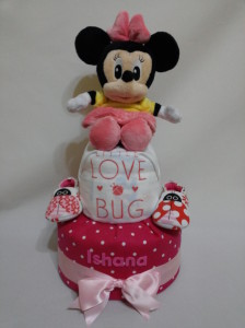 2 Tier -DiaperCakesSingapore-BabyGifts-Minnie-Mouse-Girl-lshana-1