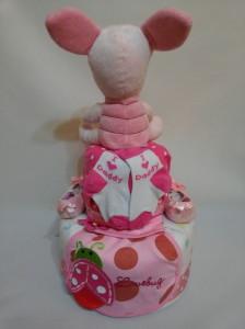 2 Tier -DiaperCakesSingapore-BabyGifts-PinkPiglet-Girl-Victoria-4
