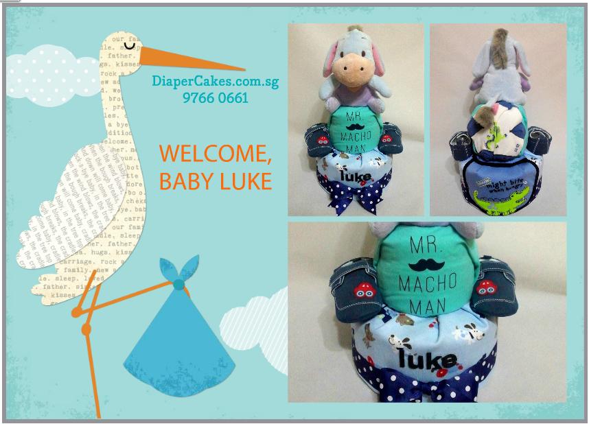 2-Tier Eeyor DiaperCake for Baby Luke