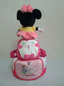 2-Tier-Minnie-Mouse-Diaper Cake-Baby Gifts Singapore- Girl-Charlotte-2