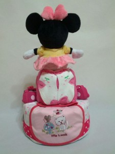 2-Tier-Minnie-Mouse-Diaper Cake-Baby Gifts Singapore- Girl-Gwendolyn-2