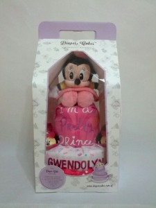 2-Tier-Minnie-Mouse-Diaper Cake-Baby Gifts Singapore- Girl-Gwendolyn-3