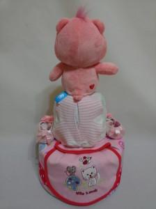 2-Tier-Rainbow-Care-Bear-Diaper Cake-Baby Gifts Singapore- Girl-Alice-2