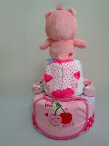 2-Tier-Rainbow-Care-Bear-Diaper Cake-Baby Gifts Singapore- Girl-Lucy-2