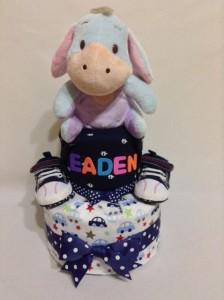 2Tier -DiaperCakesSingapore-BabyGifts-Eeyore-Boy-Eaden- 1