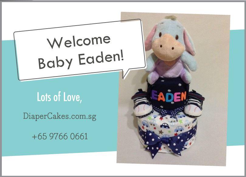 2Tier -DiaperCakesSingapore-BabyGifts-Eeyore-Boy-Eaden-5