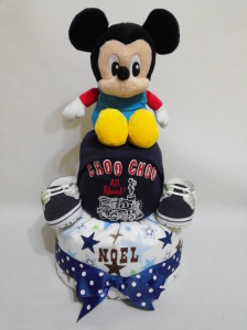2Tier -DiaperCakesSingapore-BabyGifts-MickeyMouse-Boy-Noel-1