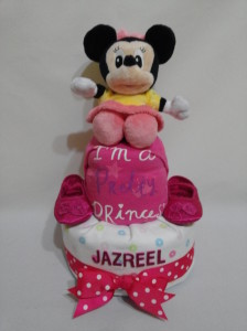 2Tier -DiaperCakesSingapore-BabyGifts-Minnie-Mouse-Girl-Jazreel-1