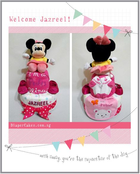 2Tier -DiaperCakesSingapore-BabyGifts-Minnie-Mouse-Girl-Jazreel-5