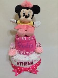 2Tier -DiaperCakesSingapore-BabyGifts-MinnieMouse-Girl-Athena-1