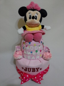 2Tier -DiaperCakesSingapore-BabyGifts-MinnieMouse-Girl-Juby-1