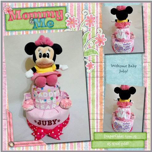 2Tier -DiaperCakesSingapore-BabyGifts-MinnieMouse-Girl-Juby-5