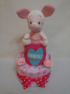 2Tier -DiaperCakesSingapore-BabyGifts-Piglet-Girl-1