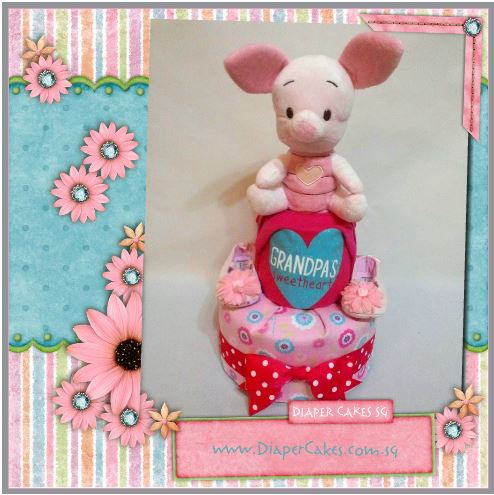 2Tier -DiaperCakesSingapore-BabyGifts-Piglet-Girl-5