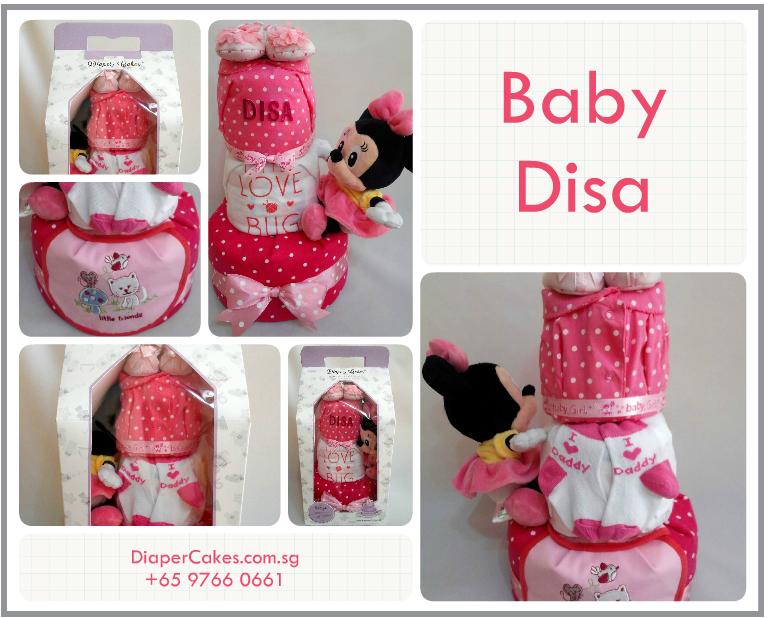 3 Tier -DiaperCakesSingapore-BabyGifts-MinnieMouse-Disa-Girl-5