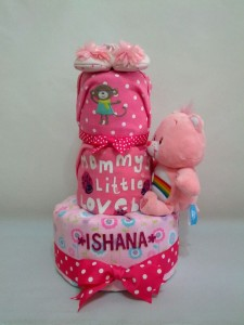 3-Tier-Rainbow-Care-Bear-Diaper Cake-Baby Gifts Singapore- Girl-Ishana-1