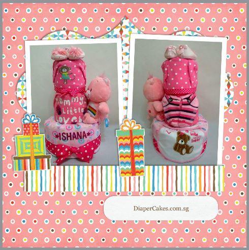 3-Tier-Rainbow-Care-Bear-Diaper Cake-Baby Gifts Singapore- Girl-Ishana-3