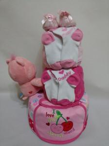 3-Tier-Rainbow-Care-Bear-Diaper Cake-Baby Gifts Singapore- Girl-Scarlett-2