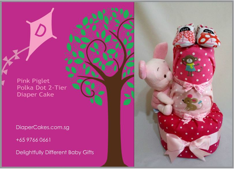 3Tier -DiaperCakesSingapore-BabyGifts-Piglet-Girl-5