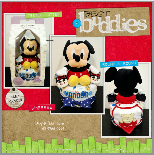 1Tier -DiaperCakesSingapore-BabyGifts-Mickey-Boy-Xander-5