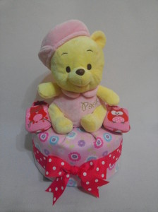 1Tier-DiaperCakesSingapore-BabyGifts-Pooh-Girl-1