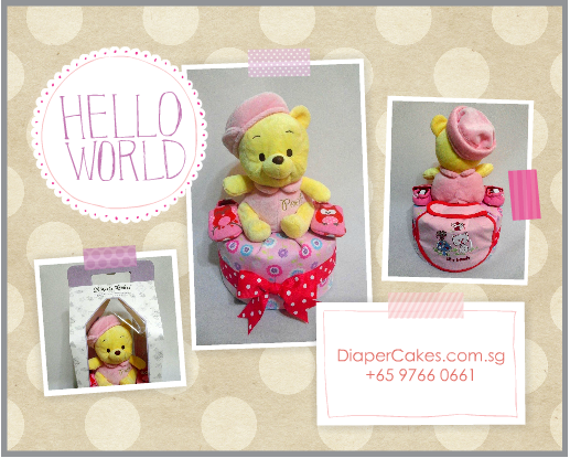 1Tier-DiaperCakesSingapore-BabyGifts-Pooh-Girl-5