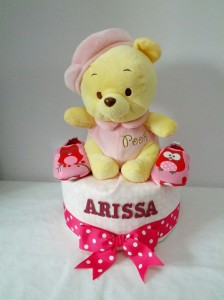 1Tier-DiaperCakesSingapore-BabyGifts-WinnieThePooh-Girl-Arissa-1