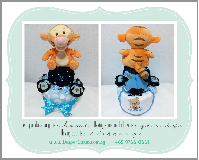 2 Tier -DiaperCakesSingapore-BabyGifts-Tigger-Boy-5