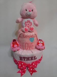 2Tier-DiaperCakesSingapore-BabyGifts-CareBear-Girl-Ethel-1
