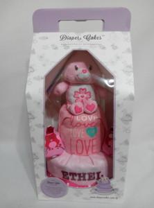 2Tier-DiaperCakesSingapore-BabyGifts-CareBear-Girl-Ethel-3