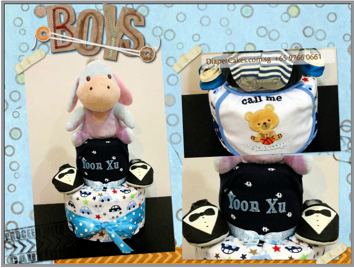 2Tier-DiaperCakesSingapore-BabyGifts-Eeyore-Boy-YoonXu-5