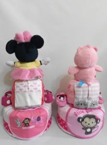 2Tier-DiaperCakesSingapore-BabyGifts-Minnie-CareBear-Girl-Ulfah-2