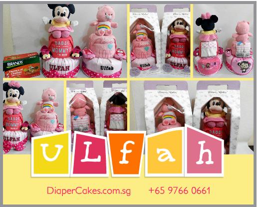 2Tier-DiaperCakesSingapore-BabyGifts-Minnie-CareBear-Girl-Ulfah-5