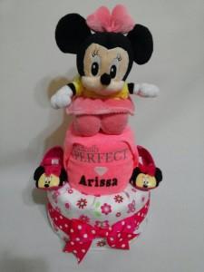 2Tier-DiaperCakesSingapore-BabyGifts-Minnie-Girl-Arissa-1