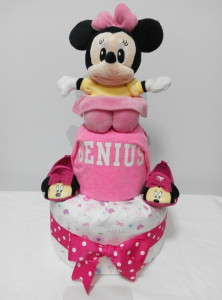 2Tier-DiaperCakesSingapore-BabyGifts-MinnieMouse-Girl-1