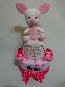 2Tier -DiaperCakesSingapore-BabyGifts-Piglet-Girl-Viviana-1