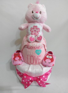 2Tier-DiaperCakesSingapore-BabyGifts-PinkCare-Girl-1