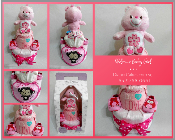 2Tier-DiaperCakesSingapore-BabyGifts-PinkCare-Girl-5