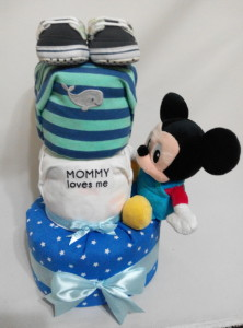 3Tier -DiaperCakesSingapore-BabyGifts-Mickey-Boy-1
