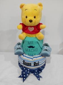 2Tier-DiaperCakesSingapore-BabyGifts-Boy-Pooh-GuanRui-1