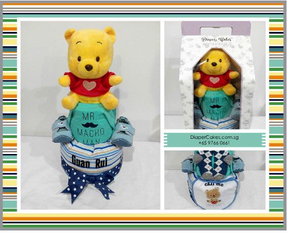 2Tier-DiaperCakesSingapore-BabyGifts-Boy-Pooh-GuanRui-5