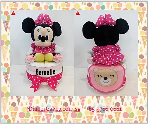 1Tier-DiaperCakesSingapore-BabyGifts-Girl-Minnie-Bernelle-5