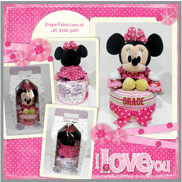 1Tier-DiaperCakesSingapore-BabyGifts-Girl-Minnie-Grace-5