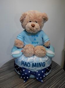 1Tier-DiaperCakesSingapore-BabyGifts-TeddyBear-Boy-Haoming-1