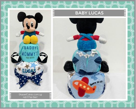 2Tier-DiaperCakesSingapore-BabyGifts-Boy-Mickey-Lucas-5