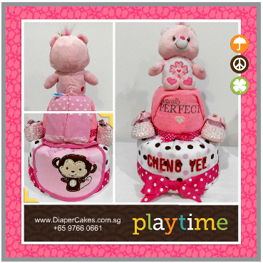 2Tier-DiaperCakesSingapore-BabyGifts-CareBear-ChengYee-3