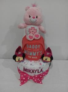 2Tier-DiaperCakesSingapore-BabyGifts-CareBear-Girl-Mikayla-1